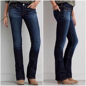 American Eagle | Dark Wash Slim Bootcut Jeans 12